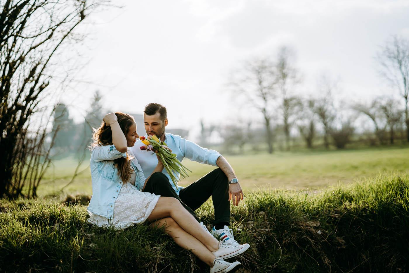 Shooting di Coppia – Romantico Tramonto di Primavera in Toscana